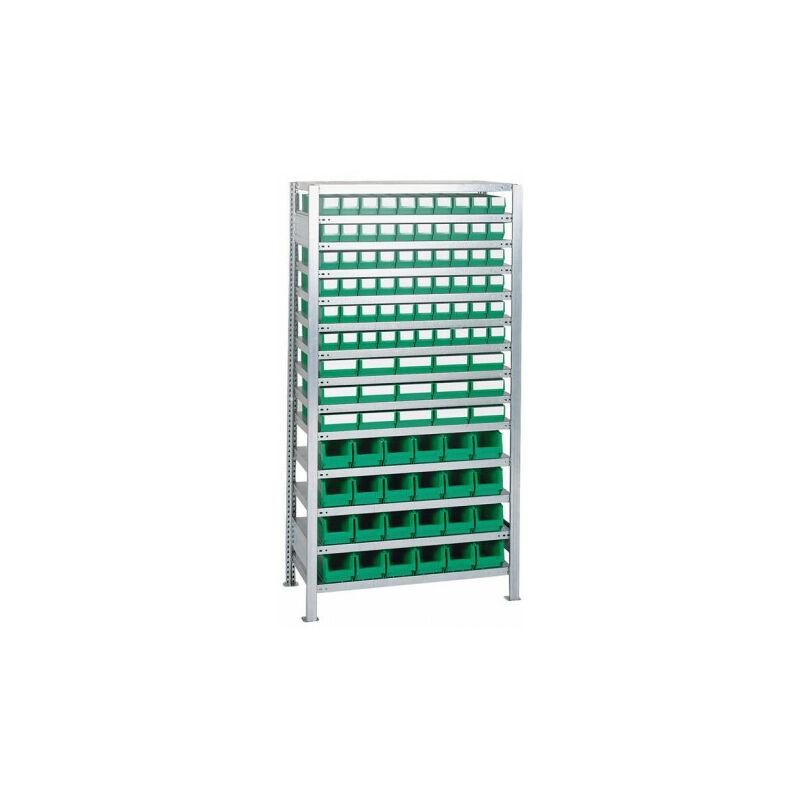 Étagère à emboîter H2000xl1000xP400 mm étagère d'extension 16 supports en acier