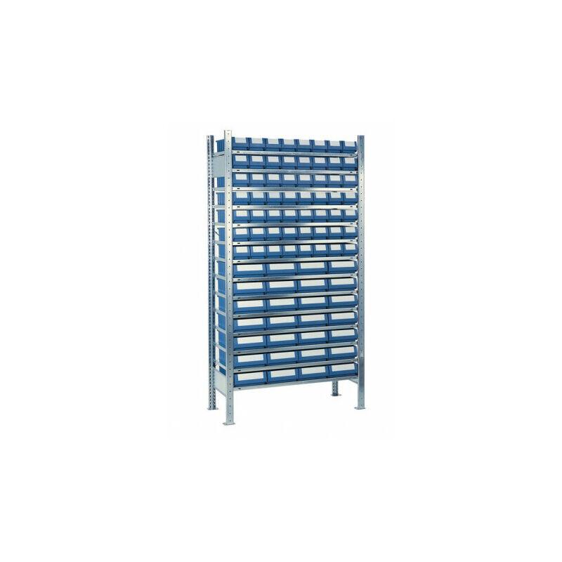 Étagère à emboîter H2000xl1000xP300 mm étagère de base 14 supports en acier 56 x 1, 28 x 2