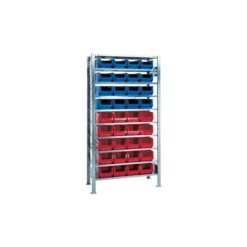 Étagère à emboîter H2000xl1000xP400 mm étagère d'extension 10 supports en acier