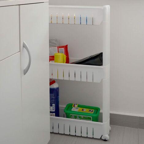 Etagère à roulettes / resserre de cuisine blanc 71 cm