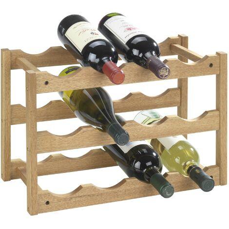 Étagère à vin Norway, casier à bouteilles, bois, lot de 2