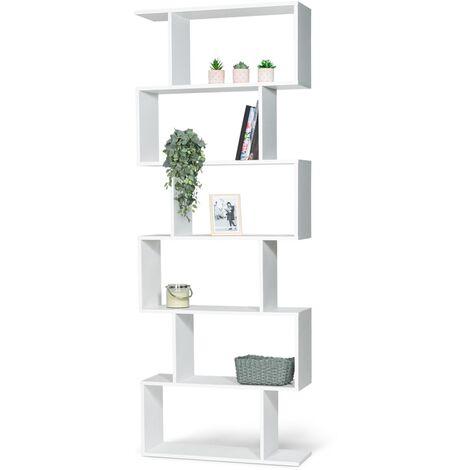 """main image of """"Etagère bibliothèque SOFIA forme S bois blanc 189 cm"""""""