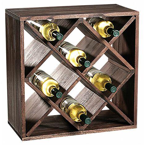 Etagère carré pour bouteilles à vin - 12 compartiments - Livraison gratuite