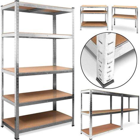 Étagère charge lourde metallique 5 tablettes stockage rangement objets lourds 5 plateaux - 180x90x40cm