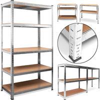 Étagère charge lourde metallique - rangement objets lourds -18 kg poids - acier