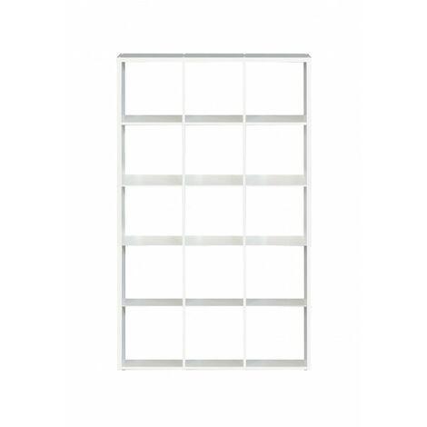 Étagère cube 15 casiers décor blanc - Classico - Blanc