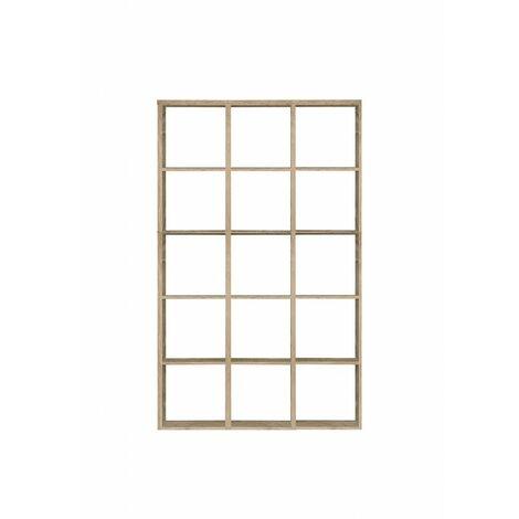 Etagère cube 15 casiers décor chêne - Classico - Bois