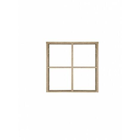 Étagère cube 4 casiers décor chêne - Classico - Bois