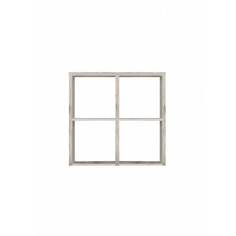 Étagère cube 4 casiers décor chêne gris - Classico - Gris