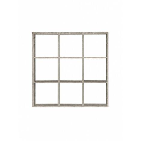 Étagère cube 9 casiers chêne grisé - Classico - chêne grisé