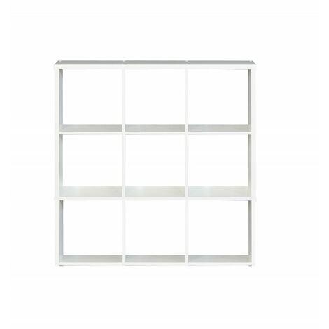 Étagère cube 9 casiers décor blanc - Classico - Blanc
