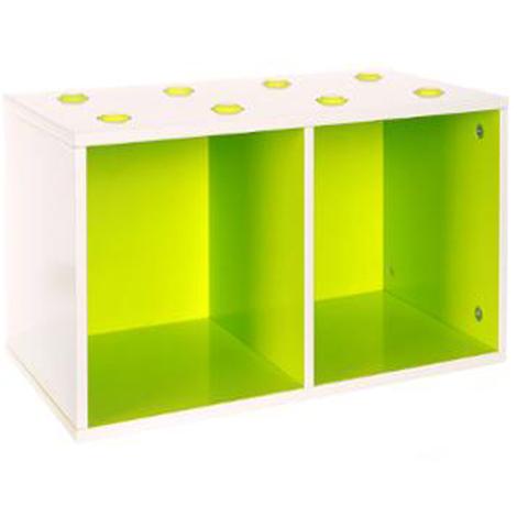 Etagère Cube épaisseur 1.20 cm Vert - Dim : L 54 x P 27 x H 27 cm