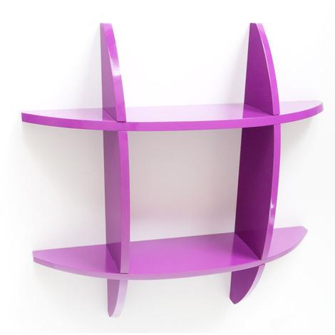 Étagère cube murale Bibliothèque Purple