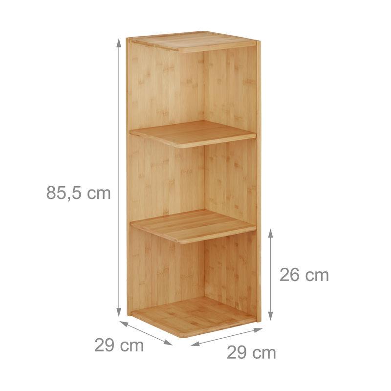 Etagere D Angle En Bambou 3 Etages Hxlxp 85 5 X 29 X 29 Cm