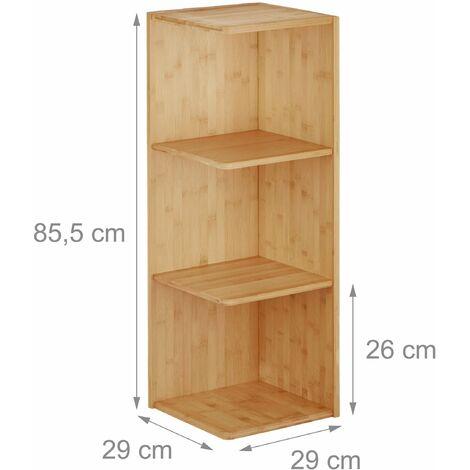Etag re d 39 angle salle de bain en bambou 85 cm 3213078 - Etagere d angle salle de bain ...
