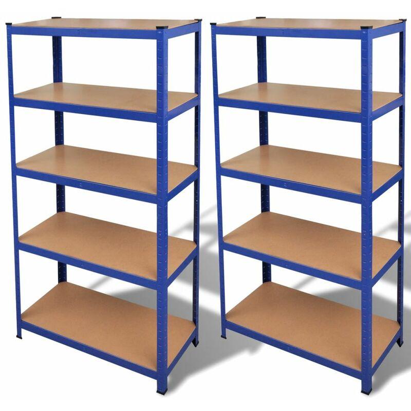 étagère de rangement 2 pcs Bleu