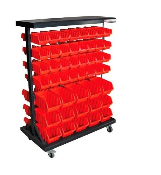 Etagère de rangement avec 94 bacs plastique KSR94D - - Holzmann