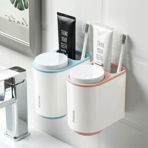 Étagère de salle de bain boîte de rangement étagère de tasse gris