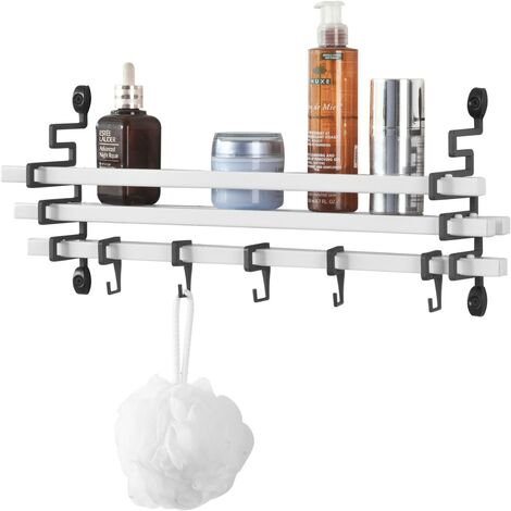 Etagère Design murale avec 5 crochets mobiles - Cuisine Salle de ...
