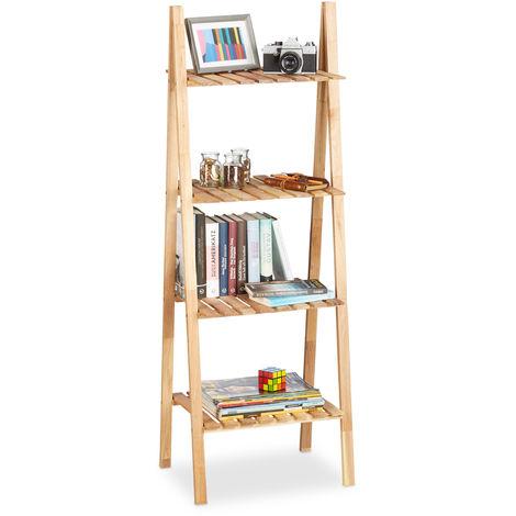 1bc773cc4681f Étagère échelle salle de bain meuble en bois bibliothèque de cuisine 4  niveaux HxlxP  131 x ...