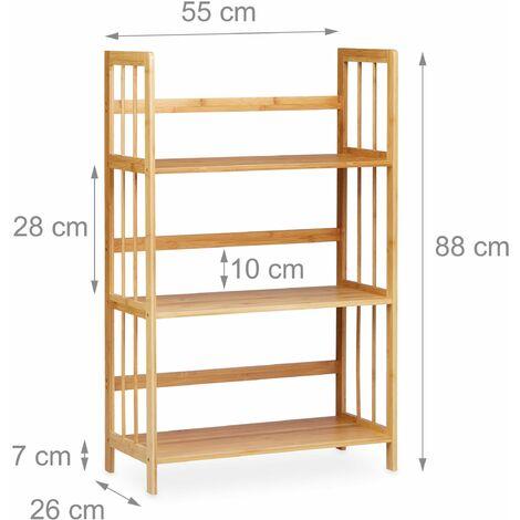 etag re en bambou 3 niveaux salle de bain 88 cm 3213075. Black Bedroom Furniture Sets. Home Design Ideas