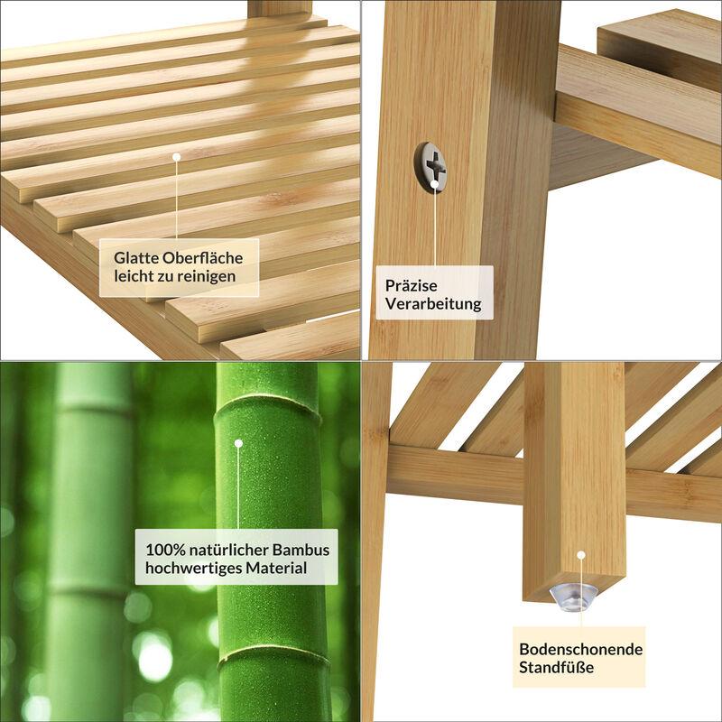 Étagère en bambou Meuble de rangement 10 kg max. par niveau Maison salle de  bain cuisine couloir 10 tiers (en)