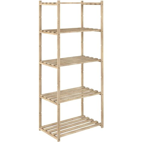 Etagère en kit Natura 5 tablettes 40 cm - Naturel