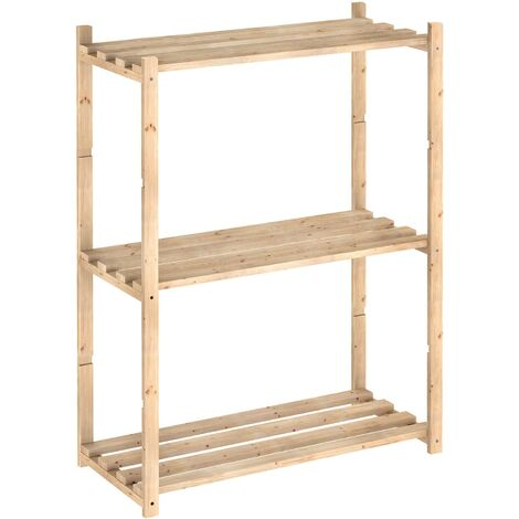 Etagère en kit Natura tablettes de 30 cm 3 tablettes - Naturel