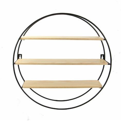 Étagère flottante de cercle | M&W 3 Niveau