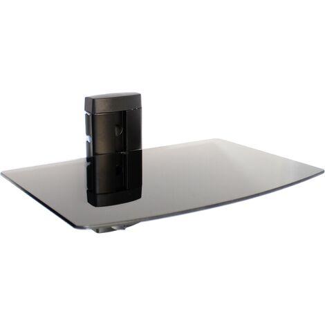 Étagère flottante en verre noir trempé | M&W 1 Niveau