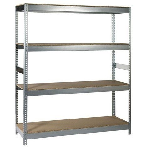 Etagere metal/bois charge lourde 180x150x50 galva ref.732009