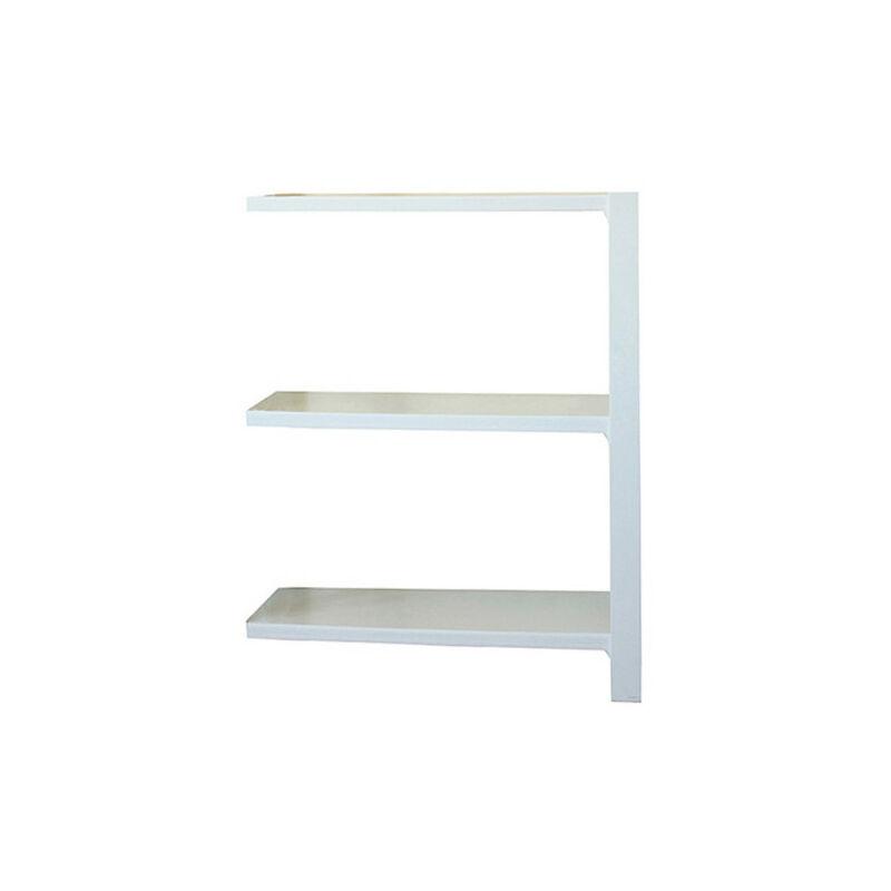 Étagère métallique 3 niveaux - 1000 x 900 x 300 mm - KIT OFFICLICK - WOOD A.M. - Blanc - Blanc