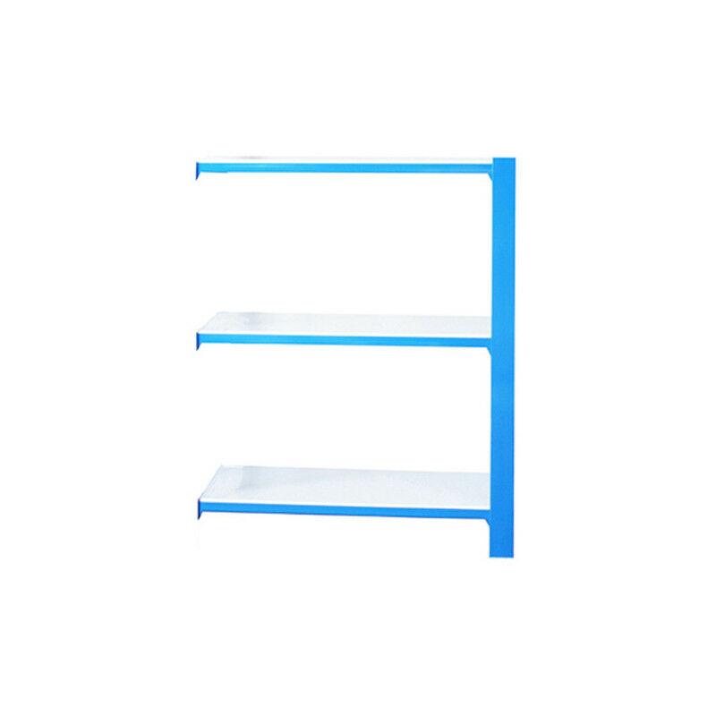 Simonrack - Étagère métallique 3 niveaux - 1000 x 900 x 300 mm - KIT OFFICLICK - WOOD A.M. - Bleu - Blanc - Bleu / Blanc