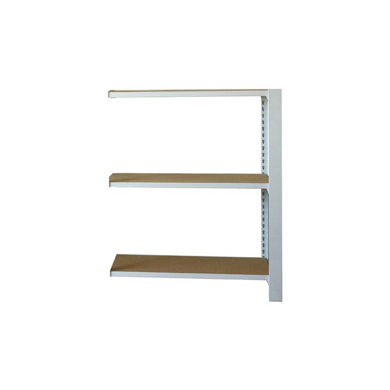 Simonrack - Étagère métallique 3 niveaux - 1000 x 900 x 400 mm - KIT OFFICLICK - WOOD A.M. - Blanc - Mdf - Blanc / MDF