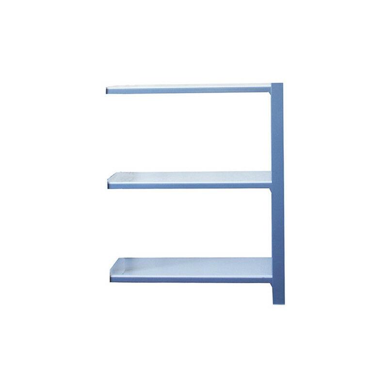 Simonrack - Étagère métallique 3 niveaux - 1000 x 900 x 400 mm - KIT OFFICLICK - WOOD A.M. - Gris - Blanc - Gris / Blanc