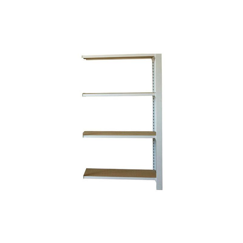 Simonrack - Étagère métallique 4 niveaux - 1500 x 900 x 300 mm - KIT OFFICLICK - WOOD A.M. - Blanc - Mdf - Blanc / MDF