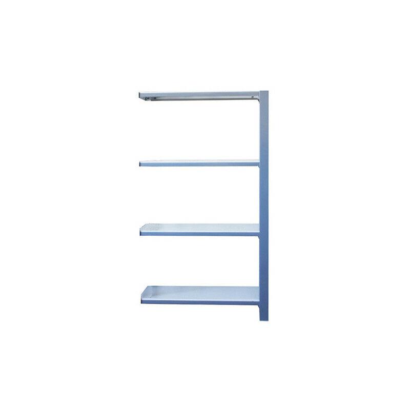 Simonrack - Étagère métallique 4 niveaux - 1500 x 900 x 400 mm - KIT OFFICLICK - WOOD A.M. - Gris - Blanc - Gris / Blanc