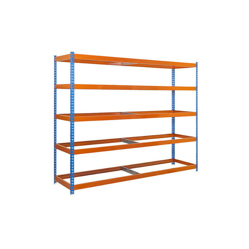 Simonrack - Étagère métallique 5 niveaux - 2000 x 1500 x 900 mm - KIT SIMONFORTE - Bleu - Orange - Bleu / Orange