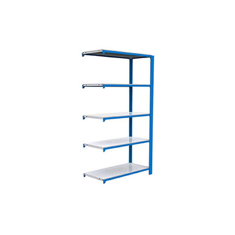 Simonrack - Étagère métallique 5 niveaux - 2100 x 900 x 300 mm - KIT OFFICLICK - Bleu - Blanc - Bleu / Blanc