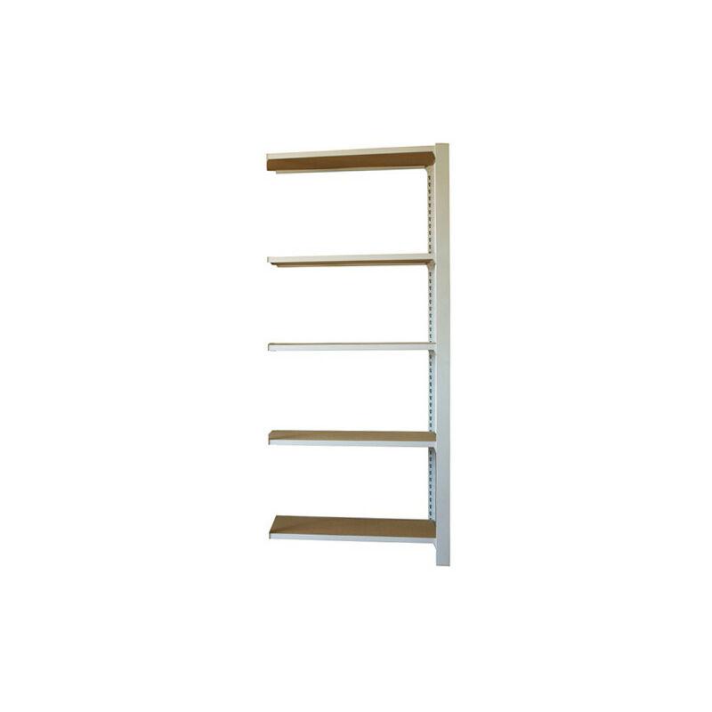 Simonrack - Étagère métallique 5 niveaux - 2100 x 900 x 300 mm - KIT OFFICLICK - WOOD A.M. - Blanc - Mdf - Blanc / MDF