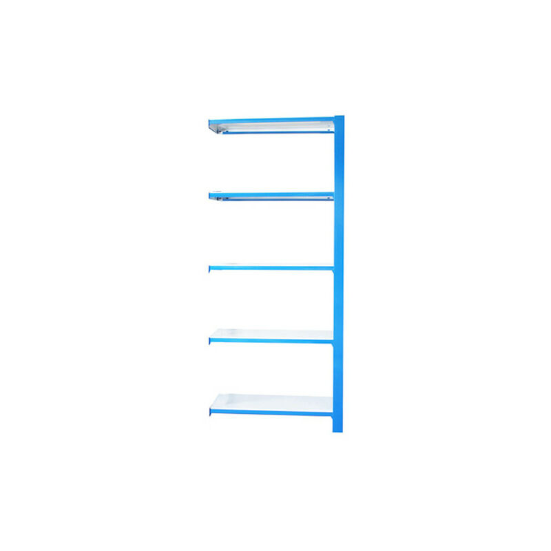 Étagère métallique 5 niveaux - 2100 x 900 x 400 mm - KIT OFFICLICK - WOOD A.M. - Bleu - Blanc - Bleu / Blanc