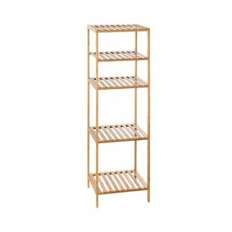 Etagère modulable 4 niveaux - L 35 x l 32 x H 111.5 cm - Bambou - Marron - Livraison gratuite