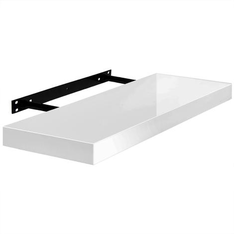 Étagère murale blanc laqué   Fixation rapide   15kg max