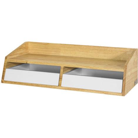 tag re murale en bois avec 2 tiroirs frg271 wn sobuy. Black Bedroom Furniture Sets. Home Design Ideas