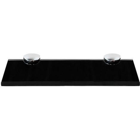 Etagère murale Etagère Console Etagère en verre 20x10CM Noir Etagère en verre Holder