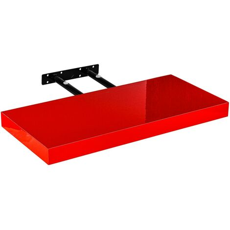 Étagère murale STILISTA® Volato, étagère flottante, longueur 30 cm, épaisseur 3,8cm, testée sans substances nocives, couleur rouge brillant