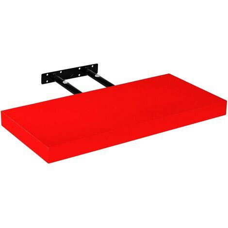 Étagère murale STILISTA® Volato, étagère flottante, longueur 60 cm, épaisseur 3,8cm, testée sans substances nocives, couleur rouge
