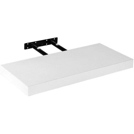 Étagère murale STILISTA® Volato, étagère flottante, longueur 80 cm, épaisseur 3,8cm, testée sans substances nocives, couleur blanc