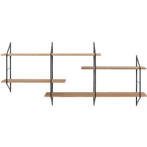 Etagère murale XL bois et métal BRIDGE