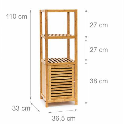 Meuble Salle De Bain Pour Serviette.Etagere Pour Salle De Bain Cuisine Armoire Bambou 4 Etages